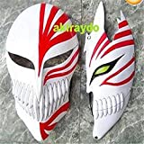 2453 NEWnew Pair 2 Bleach Ichigo Bankai Cosplay Full Hollow Mask ~Free Shipping~ White 2pcs