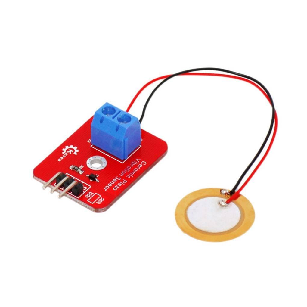 Analog Piezoelectricity Keramik Vibration Sensor Piezo Vibrationssensor fü r ARDUINO Development Board Topker
