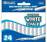 Bazic Dustless Chalk, White, 24 per Box (Case of 24)