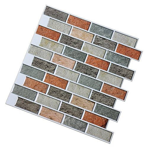 Art3d peel and stick kitchen backsplash self adhesive for Self adhesive subway tile backsplash
