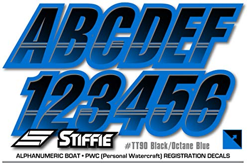 Stiffie Techtron Black/Octane Blue 3