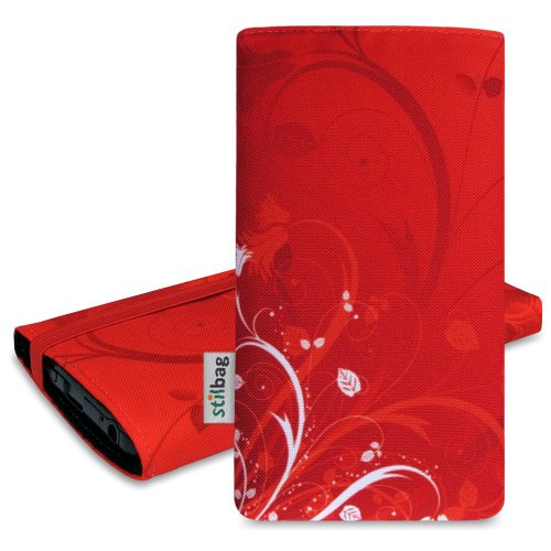 Stilbag Etui 'MIKA' pour Apple iPhone 4/4S - Dessin: Rote Blumen