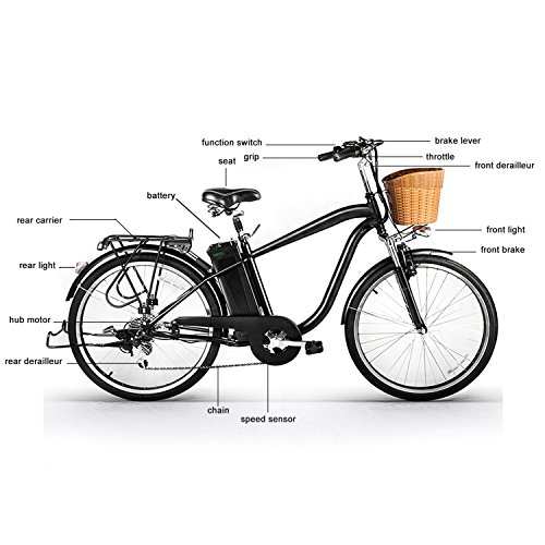 amazon com nakto 250w shimano 6 speed gear electric bicycle with