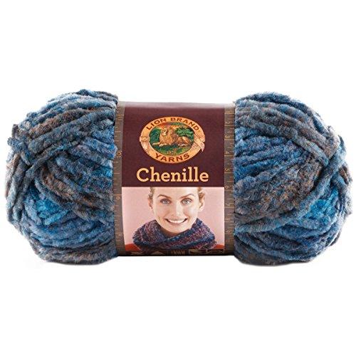 UPC 023032007465, Lion Brand Yarn 531-202 Chenille Yarn, Glacier