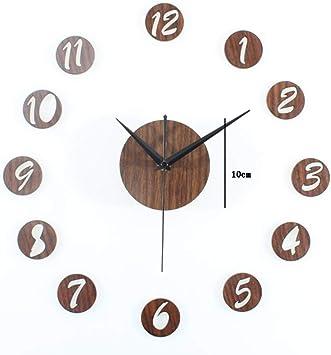 Image of ZGYQGOO DIY: Reloj de Pared de Espejo de acrílico Moderno Simple, Colgante de Pared de Restaurante de Sala de Estar (Color: # 1)