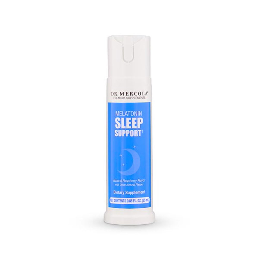 Dr Mercola Melatonin Sleep Support Spray - 25mL - Natural Sleep Aid for Deep, Restful Sleep - Plus Sleep-Supporting Nutrients - Natural Raspberry Flavor