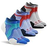 No Show Running Socks, ZEALWOOD Womens Mens Low Cut Athletic Socks Cushion Wool Socks With Padding Antibacterial Wicking Summer Athletic Socks Socks