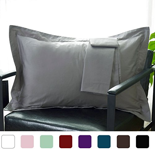 Great Deal! uxcell Pillow Shams Oxford Pillow Cases Egyptian Cotton 300 Thread Count Solid/Plain Pat...