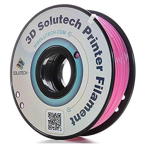 3D Solutech Real Pink 3D Printer PLA Filament 1.75MM Filament, Dimensional Accuracy +/- 0.03 mm, 2.2 LBS (1.0KG)