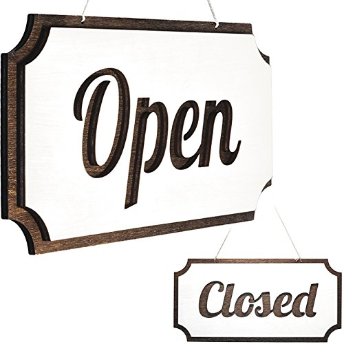 Rustic Open Closed Sign – Double-Sided Open Sign – Vintage Style Wood Closed Sign – Open and Closed Sign for Business – Decorative Open-Closed Sign 12 х 6 Inches Review