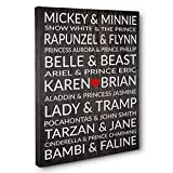 Best Disney Anniversary Gifts For Husbands - Famous Disney Couples Personalized Wedding Anniversary Gift CANVAS Review