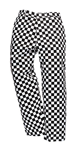 Unisex Baggy Style Chef Cook Pants with Draw String (L (to fit Waist 36-38), Chess (Poly Womens Trousers)