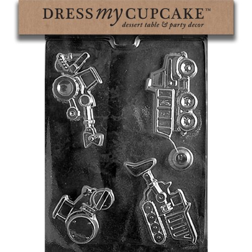 Dress My Cupcake Chocolate Candy Mold, Construction Vehicles Dump