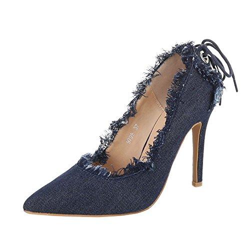 Ital Bleu Femme Hauts Chaussures Talons design Clair À UxwarYUq
