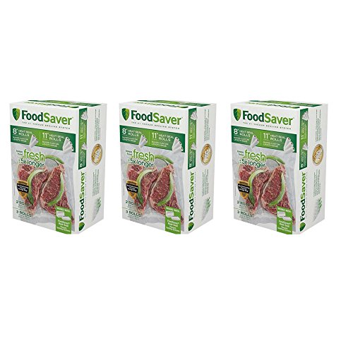 FoodSaver 8″ & 11″ Vacuum Heat-Seal Rolls Combo Pack (5 Count) -3 Pack