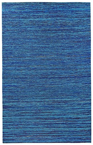 picture of Recycled Sari Silk Blue 8x10' with Free Shipping