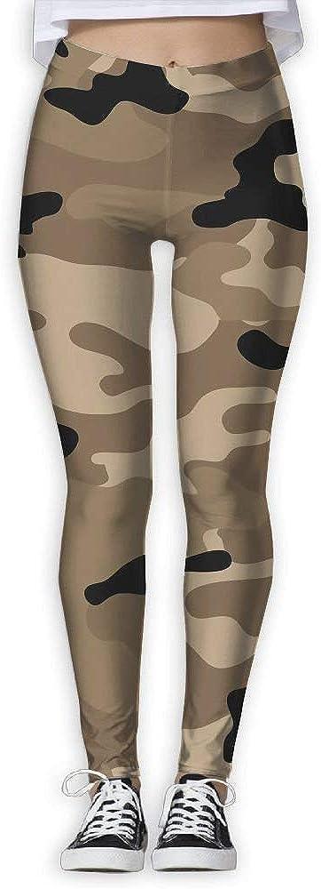 QQMIMIG Printed Leggings Army Brown Camouflage Leggings Workout Leggings Women Girls