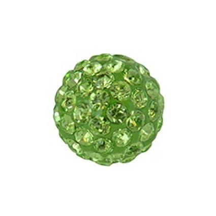Tamaño grande Studex sensible 8 mm Peridot cristal bola de ...