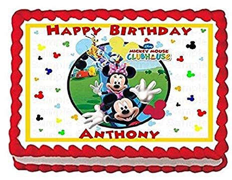 Amazoncom Mickey Mouse Clubhouse Edible Frosting Sheet Cake Topper