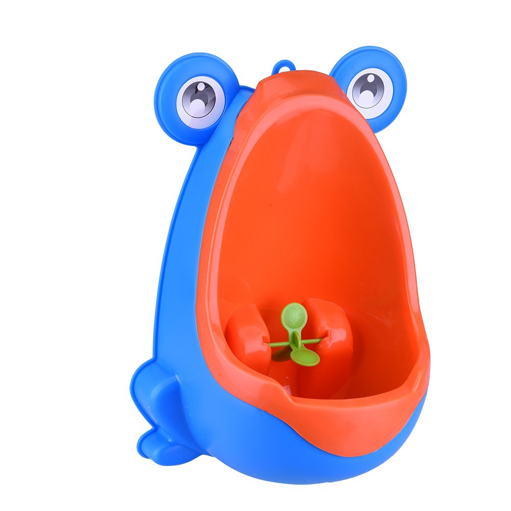 LianLe Frog-shaped Children Potty Toilet Training Kids Urinal for Boys Pee Trainer Bathroom Blue/Coffee/Green (One Orange Peel Device AS GIFT) by LianLe  ブルー B014KIHF3M