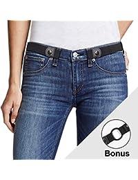 Buckle Free Women Stretch Belt Plus Size No Buckle/Show Invisible Belt for Jeans Pants Dresses