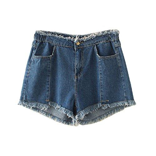 libero larghi FuweiEncore jeans di da grandi donna in Dark dimagriscono che dimensioni tempo Pantaloncini l'estate per blue pantaloncini il per rXwqXvB