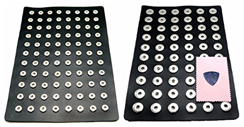 Ladieshow Display PU board for Snap Button Jewelry (pack of 2 pcs,Big+Small) ()