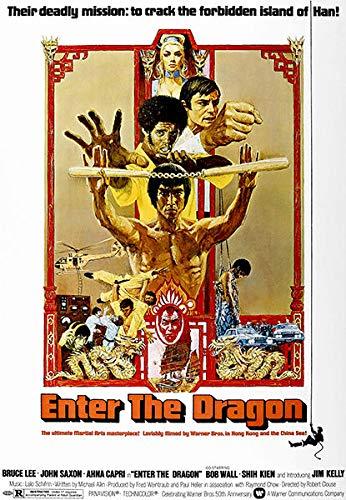 USWay 188056 Enter The Dragon 1973 Movie Decor Wall 36x24 Poster Print