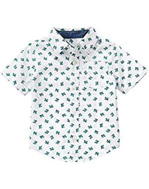 Baby Toddler Boys' Printed Woven Shirt