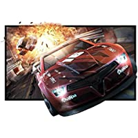 84 Projector Screen, 84 Inch Diagonal 16:9 Projection HD Foldable Screen Home Theater Widescreen Projector Screen For Travel PPT Business Presentation