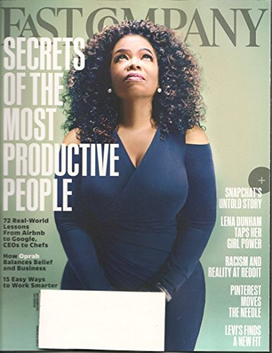 Fast Company magazine (November 2015) Oprah Winfrey Cover: How Oprah Balances Belief and Business + Secrets of the Most Productive People + Snapchat's Untold Story + 15 Ways to Work Smarter + more!