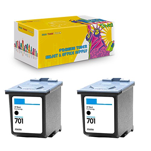 New York TonerTM New Compatible 2 Pack CC635A HP 701 High Yield Inkjet for HP FAX : FAX 640 | FAX 650 | FAX 2140 - ()