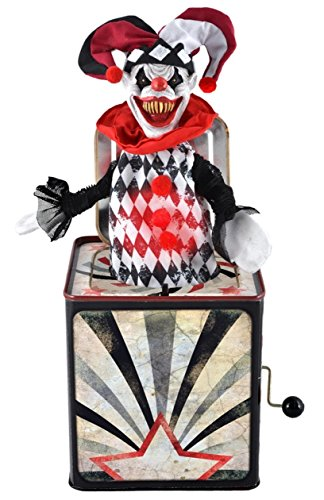 Scary Clown Jester Jack In Box (Jack In The Box Costume Head)