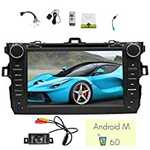 EinCar 7'' Quad Core Android 6.0 Car Stereo for Toyota Corolla 2007 2008 2009 2010 2011 2012 2013 in Dash Car DVD Player Capacitive Multi-Touch Screen GPS with Navigation WiFi Back Camera