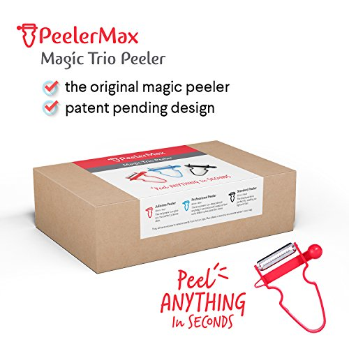 Magic Trio Peeler [2018 NEW] - Peel Anything In Seconds With The Amazing 3pc Peeler Set (Set of 3) [Ship From US] by Infina (Image #1)