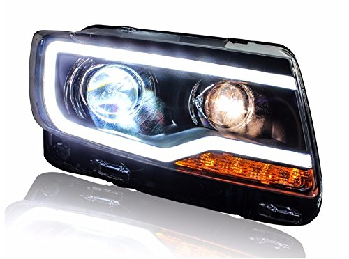 GOWE Car Styling for JEEP Compass 2011-2015 LED Headlight for Compass Head Lamp LED Daytime Running Light LED DRL Bi-Xenon HID Color Temperature:8000K;Wattage:55K 1