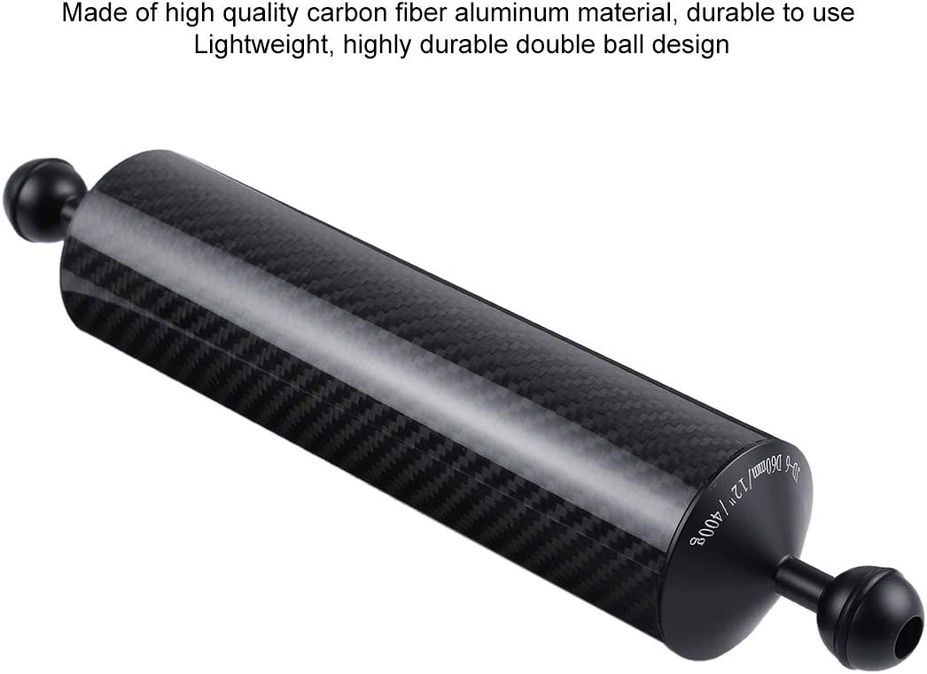 Buoyancy Ball Diameter 25mm PULUZ 12.79 inch 32.5cm Length 60mm Diameter Dual Balls Carbon Fiber Floating Arm 400g