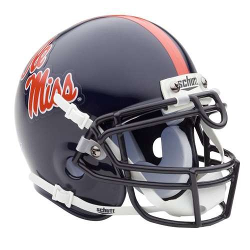 Schutt Mississippi Ole Miss Rebels Mini Helmet Navy