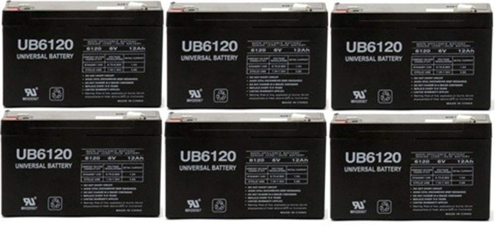 Universal Power Group 6VOLT 12AMP DEEP-Cycle Rechargeable Sealed Energy Storage Battery 12AH 6V - 6 Pack