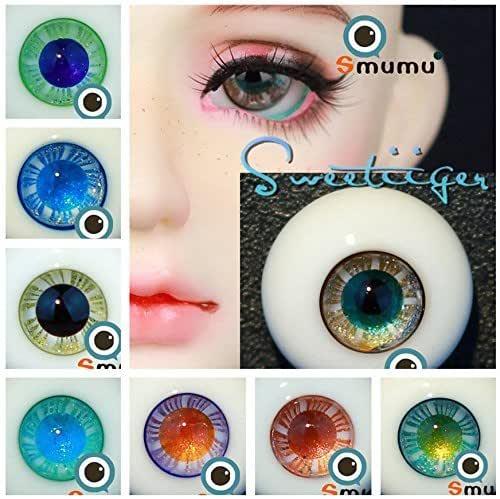 Nice  12mm Glass BJD Eyes for 1//6 BJD Doll DarkBlue Iris/&Black Pupil