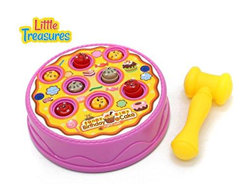 Birthday Cake Arcade Game - Hammer Pounding toy for Kids Fun
