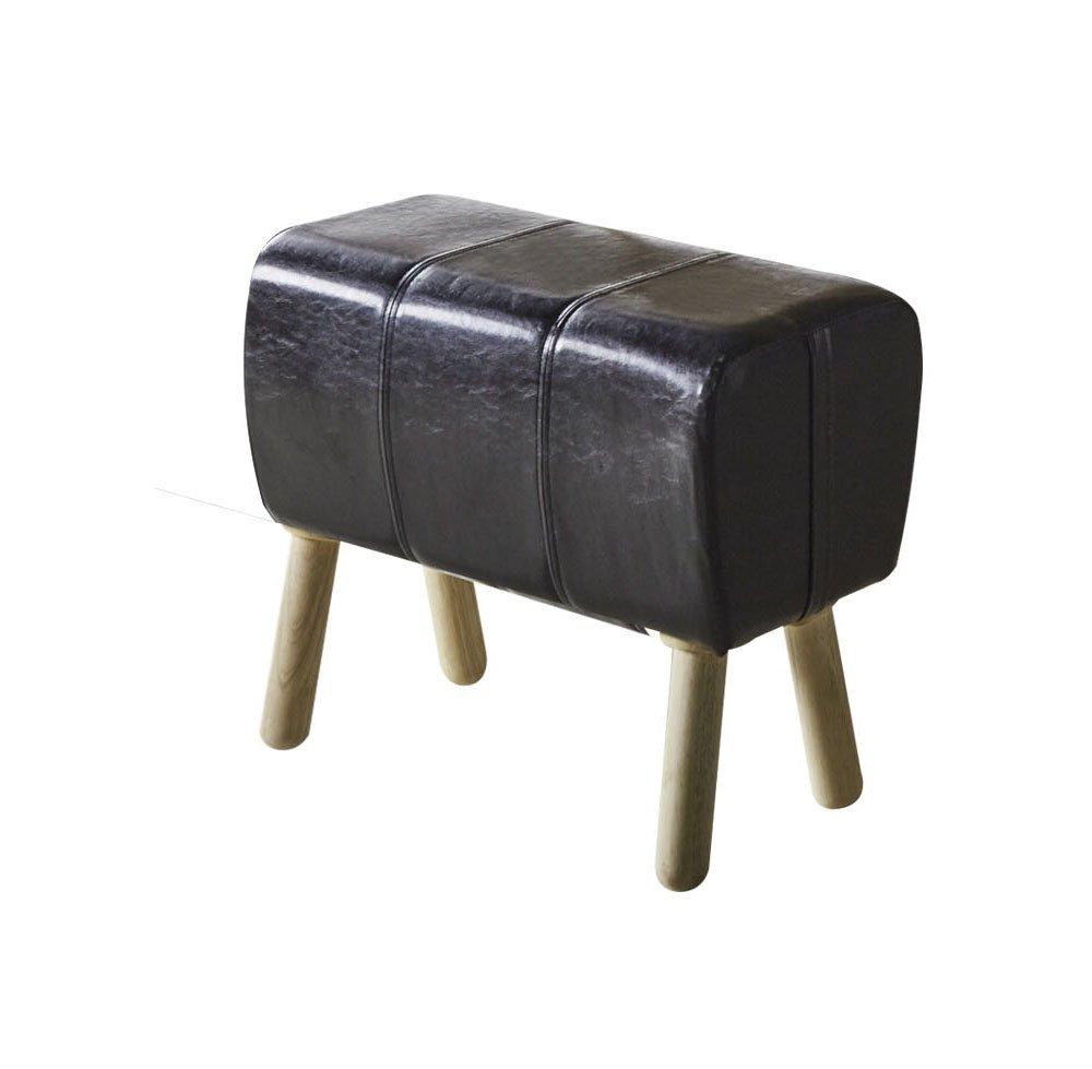 Acme Furniture ACME Dessa Black Faux Leather Stool
