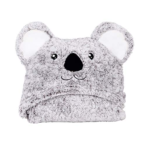 - EazzHome Grey Koala Hooded Baby Blanket | Super Soft & Cozy Warm | Multipurpose Use & Portable | Suitable for Babies & Children | 30x40 inches