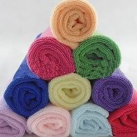 Wintefei 10 Pcs Random Color Practical Soft Microfiber Face Hand Cloth Towel 25X25Cm