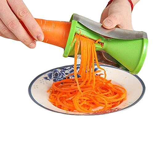 just easy spiral slicer spiralizer complete bundle vegetable cutter zucchini pasta noodle. Black Bedroom Furniture Sets. Home Design Ideas