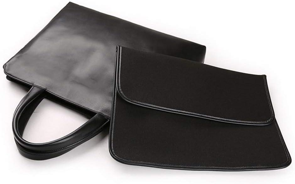 14 inch KCXUT Briefcase Mens Business Briefcase Pu Leather Shoulder Handbags with an Removable Shoulder Strap Suitable for Outing Business Laptop Bags Color : Black, Size : 37627.5cm