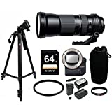 Tamron SP 150-600mm for USD Lens for Sony w/ Sony LAEA4 A-Mount adapter & Focus Tripod Bundle