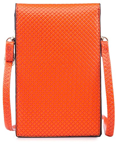 Pochette Bourse Cristal Cellulaire lxh Téléphone 11x17 Orange Femmes Place Bhbs Bandoulière Cm Messager R5YHx80qnw