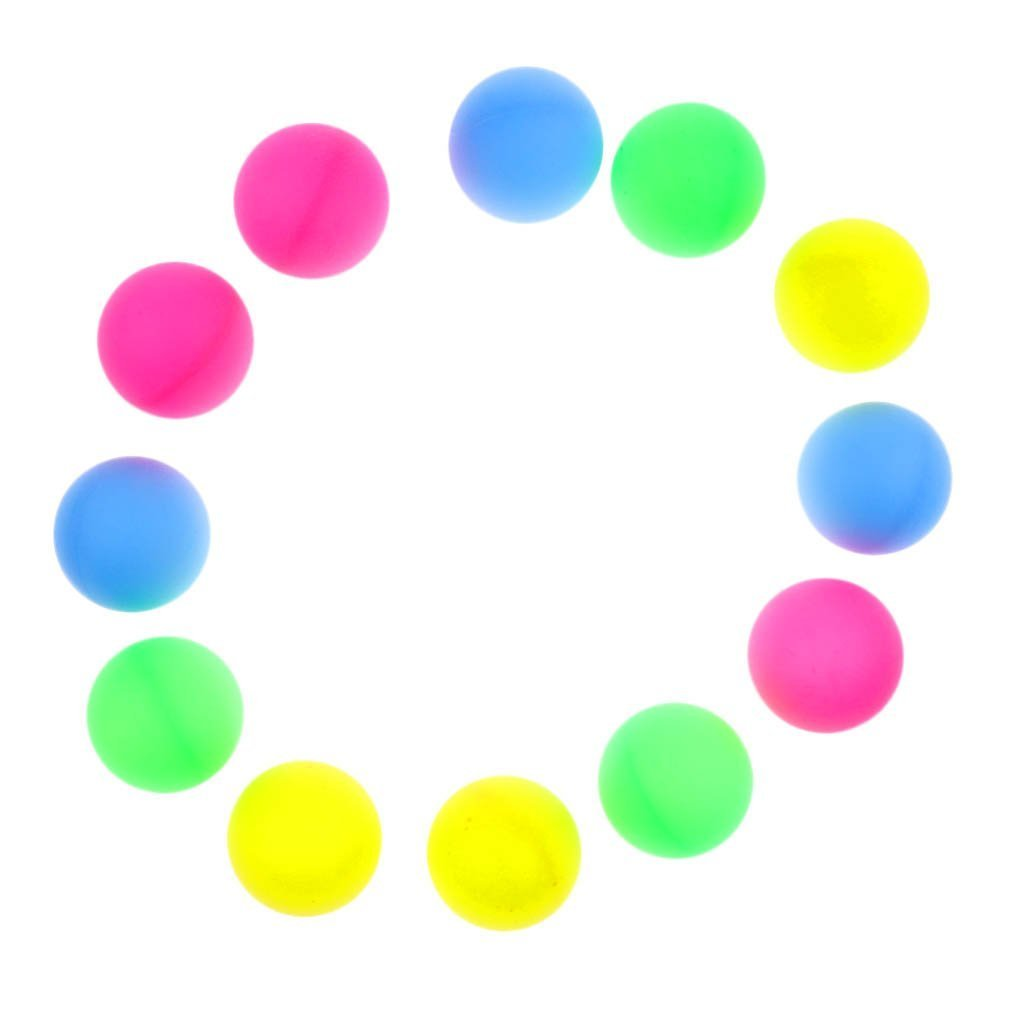 SHANGUP 12 Pieces Multiple Color Plastic Beer Ping Pong Balls Entertainment Table Tennis Balls Suit for Party Games Decorations Ping Pong Games