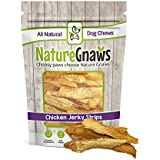 Nature Gnaws Chicken Jerky Strips for Dogs - 100% Natural Chicken Breast Dog Treats - Made in USA - 7oz (25 to 30 Pieces)